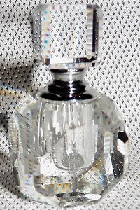 Oleg Cassini Signed Fine Crystal Perfume Bottle 122460 Venezia Casa Cassini