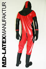 "MD-Latex - ""Classic"" 0,9mm TUTA in lattice latex rubber latex Overall tuta intera"