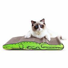ScratchMe Cat Scratching Corrugated Board Scratcher Bed Pad with Catnip Green