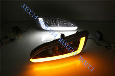 Ywllow Car Daytime Running DRL Fog Lamp For Hyundai Santa Fe/IX45 2013-2015