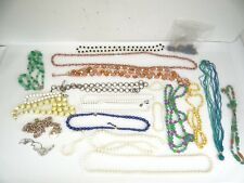 Mixed Lot Costume Jewelry Necklaces Green Beads Ladies Womens Used Old