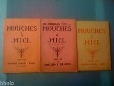 Mouches à Miel Echos-poèmes Jean de Bosschère Lecomte complet lot 3 N° Rare