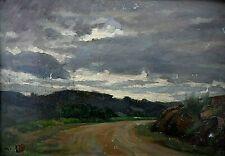 Tableau ancien huile paysage, école Française Impressionnisme Barbizon XIXème