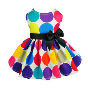 Fitwarm Polka Dots Dog Dress Summer Pet Clothes Party Shirt Girl Vest Princess