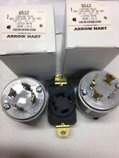 2 - L14-30P  locking male plug +1 -  receptacle  4-prong 125/250 Volt 30 amp