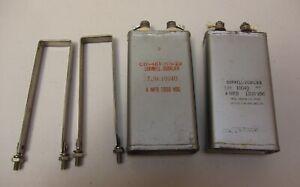 Cornell Dubilier 4 uF MFD, 1000V PIO Oil Capacitors,  TJH10040 TESTED