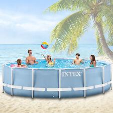 INTEX PISCINE SWIMMING POOL AVEC CADRE MÉTALLIQUE RONDE 366x122 cm