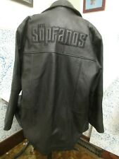 HBO The Sopranos Exclusive Promotional Black Genuine Leather Jacket Mens XXL