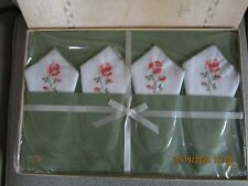 Vintage TIMELY LINENS FIFTH AVE NEW YORK Green 8 pc MAT SET No. 1107
