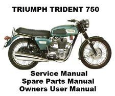 TRIUMPH TRIDENT 750 T150 T160 Owners Workshop Service Repair Manual PDF on CD-R