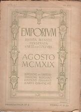 EMPORIUM RIVISTA MENSILE ILLUSTRATA D'ARTE E COLTURA N. 206 AGOSTO 1919 XILOGR