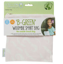 Woombie B-Green Snack Bags (Blushing Mustache, One Size)