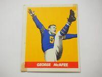 George McAfee #19 Gum Card 1948 Leaf
