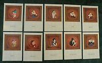 "Disney SNOW WHITE & SEVEN DWARFS POSTCARD Set of (10) 4"" X 6"" Postcards (NEW)"