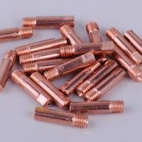 20pcs MB-15AK MIG/MAG Welding Torch Contact Tip 0.9 x 24mm Copper Gas Nozzle New