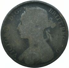 1892 ONE PENNY GB UK QUEEN VICTORIABEAUTIFUL COLLECTIBLE COIN      #WT31301