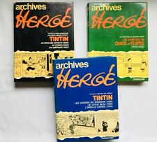 LOT BD - Archives Herge 1 a 3 / RE EO / CASTERMAN