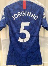 Chelsea Jorginho Match Worn Football Shirt Worn V Watford Away Game First Half