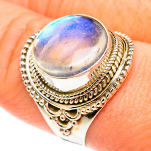 Rainbow Moonstone 925 Sterling Silver Ring Size 9 Ana Co Jewelry R77161F