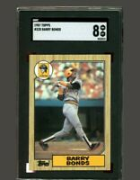 BARRY BONDS 1987 TOPPS #320 ROOKIE CARD RC NM-MINT SGC 8
