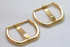 Massive Gürtelschnalle Schnalle für ca. 48 mm Breite, Gold, aus den 80ern, NOS