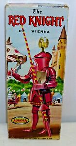 AURORA THE RED KNIGHT OF VIENNA MODEL KIT BOX ONLY 1950s original