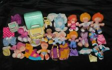 32 VINTAGE 1987 SMOOSHEES FISHER PRICE HUGE LOT OF PEOPLE ANIMALS CLOTHES TOY