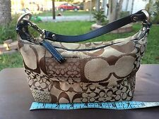 Coach Canvas Patchwork Brown Small Cosmetic Purse