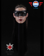*IN STCOK* 1/6 Anne Hathaway Head Sculpt Mask Catwoman for Phicen Female figure