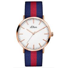 Polierte Unisex Armbanduhren aus Textilgewebe mit 12-Stunden-Zifferblatt