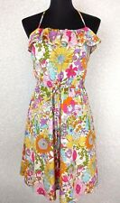 Liberty of London Target Dress S Multi Color Retro Floral Spaghetti Strap Halter