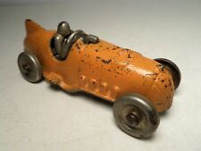 VINTAGE ORANGE HUBLEY CAST BOAT TAIL RACE CAR #5 ARCADE