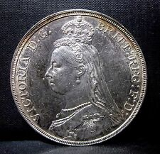 1889 Great Britain 1 Crown ✪ Au Almost Uncirculated ✪ Km-765 England ◢Trusted◣