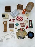 DOLLHOUSE Mixed Furniture Accessories Decor LOT Vintage Renwal Korea Shackman +