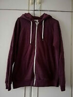CEDARWOOD STATE MENS RED MAROON ZIP HOODIE SIZE SMALL PIT TO PIT 20 LENGTH 28