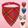 "8-10"" Adjustable Dog Bandana Collar Puppy Cat Pet Neckerchief Neck Scarf Tie"