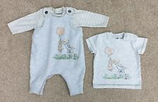 Disney Classic Winnie The Pooh Dungarees & T Shirt Set 6-9 Months Ex Cond
