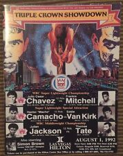 1992  Julio Cesar Chavez vs Frankie Mitchell Onsite Fight Program