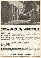 W9693 Albergo Touring Milano - Palazzo Esposizione Arti... - Pubblicità del 1936