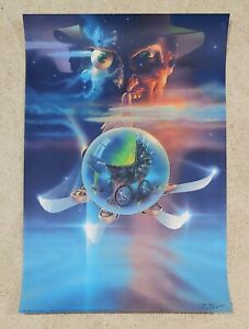 A Nightmare on Elm Street 5 The Dream Child Poster P/P Signed Peak BNG Mondo /10