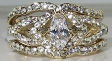 Marquise Yellow Gold Plated Band Unbranded Costume Rings