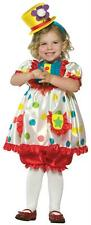 TODDLERS ADORABLE GIRL CLOWN HALLOWEEN COSTUME 2T-4T GC9511