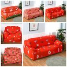 1/2/3 Seater Xmas Sofa Slipcover Stretch Protector Soft Couch Cover Washable Fit