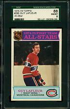 1975 76 TOPPS HOCKEY #290 GUY LAFLEUR GRADED SGC 88 NM-MINT MONTREAL CANADIENS