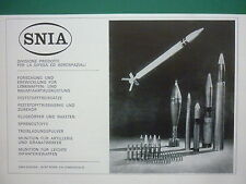 5/1971 PUB SNIA DEFENSE ESPACE MUNITION FLUGKORPER RAKETEN ORIGINAL GERMAN AD