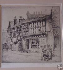 Frank Greenwood, vintage etching, signed LISTED