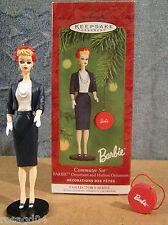 Commuter Set Barbie & Hatbox Hallmark Keepsake Ornaments Handcraft & Sculpt NEW
