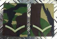 Genuine British Army Woodland Camo LANCE CORPORAL Rank Slides / Epaulettes - NEW