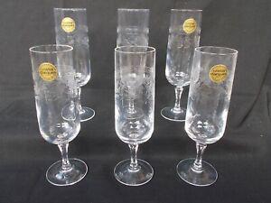 6 Flutes à Champagne Cristal d'Arques modèle Matignon 16 Cl