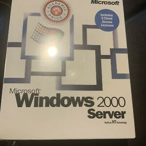 Brand New Sealed Microsoft Windows 2000 Server NT Technology 5 CAL Rare